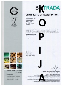 FSC sertifikatas